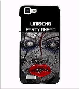 Fuson Designer Back Case Cover for Vivo Y27 :: VivoY27L (Warnign party ahead theme)