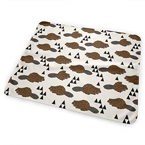 Geo Beaver - Brown By Washable Incontinence Pad Baby Changing Pad Pet Mat Large Size 25.5 x 31.5 inch (65x80 cm) -