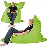 Hi-BagZ 4-Way Bean Bag Lounger HUGE 180cm x 140cm - GIANT Outdoor Floor Cushion Bean Bags LIME - 100% Water Resistant Beanbag