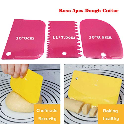 luoshui 26 Designs Silicone Baking Mat Nonstick Rolling Dough Mat Pstry Pad Kneading Dough Tools Küchenzubehör Non Stick Rolling Mat