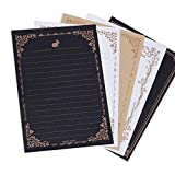 Lvcky 40 Stück Romantisches Schreibpapier Multi-Typ-Briefpapier-Block-Geschenk-Set für Grußkarte Geburtstag, weiß