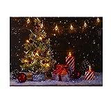 NIKKY HOME LED Weihnachten Leinwand Gemälde Dekorative LED-Leuchten Bild drucken Weihnachtsbaum Geschenk