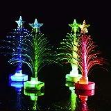 Frashing Mini Weihnachtsbaum LED-Licht Baumform Tischlampe Bunter Blitz Weihnachtsdekoration Laterne Weihnachtsbeleuchtung Weihnachtsfeier Dekoration
