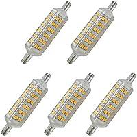 Aoxdi 5X R7S Lampadine a LED 6W 78mm, Bianco Caldo, Lampada Alogena R7S Equivalente 72 SMD 2835, Lampade a LED R7S, AC220-240V