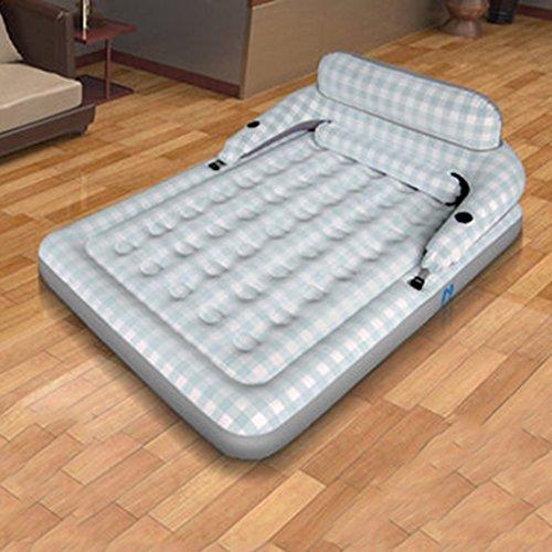 Luftmatratzen Deluxe Air Bed mit Rückenlehne und Armlehne weich beflockten Top für Komfort, Luftpumpe, Twin, Indoor Outdoor Beach (größe : 152CM*203CM*22CM) (Deluxe Twin-betten)