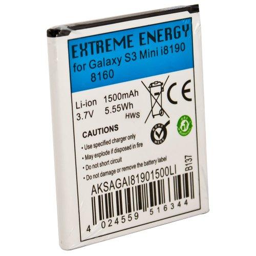 Extreme Energy Li-Ion 1500mAh kompatibel mit Samsung Galaxy S3 Mini 8190/8160 (AKSAGAI81901500LI)