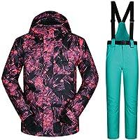 Jiuyizhe Senderismo Exterior para Hombre, Traje de Nieve, Chaqueta de esquí de Invierno y Pantalones para Rain Snow (Color : 03, Size : XXXL)