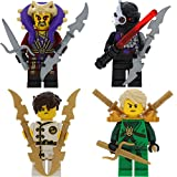LEGO Ninjago 4er Figurenset Ultimate 18 - Lloyd Jay Chen Nindroid mit 9 GALAXYARMS Waffen Schwerter
