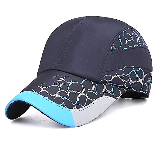 Yves25Tate Verstellbar Mütze Schnelltrocknende Schirmmütze UV-Schutz Kappe Sonnenschutz Baseball Cap Tennis Cap für Herren und Damen Sommer Violett blau