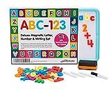 PREMIUM QUALITÄT Magnetbuchstaben, Nummern & Schreibset für Kinder. EXTRA GROßES SET - 152 Stücke. Von Lehrern designt. Inklusive KOSTENLOSER Anleitung zum richtigen Unterrichten der Grundlagen