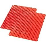 AmazonBasics Lot de 2 tapis anti-adhésifs en silicone à picots pyramidaux pour cuisson sans matières grasses