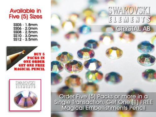 Swarovski-Strasssteine mit flacher Rückseite, keine Hotfix-Steinchen, in 5 Größen erhältlich - (SS10 3.0mm Ø) min 50 Pieces/Bag
