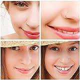 YHmall Edelstahl Scharnier Clicker Septum Piercing Nasenring Fake Hoop Lippen Ohr Ring - 8mm Vergleich