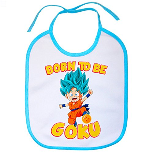Lätzchen Dragon Ball Super Born to be Goku Super Sayan God Gott Haar Blau - Super Einzigartige Kostüm