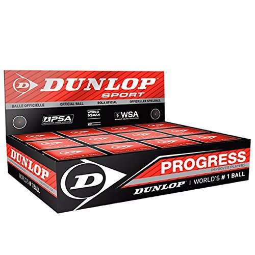 "3x Dunlop Squash Balls ""Progress"" red"