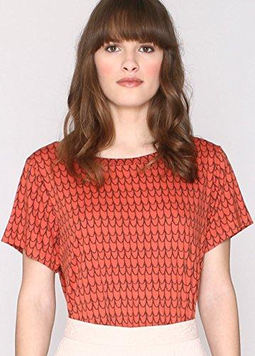 Pepa Loves 108021, T-Shirt Femme Orange (Rust)