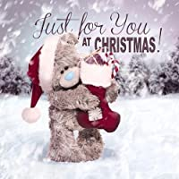 3D Holographic Just for You Me to You Bear Christmas Card by Me To You