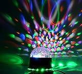 LED RGB Kristall Magic Ball Effect Licht, Intsun LED RGB Lichteffekt Licht, Disco DJ Stage Lighting LED, RGB Disco DJ Bühnenbeleuchtung, Sprachaktivierte Stage Lights, 3W Projektor Bühnenbeleuchtung, Stimmungsleuchten für Disco, Ballsaal, KTV, Bar, Bühne, Club, Party Weihnachten