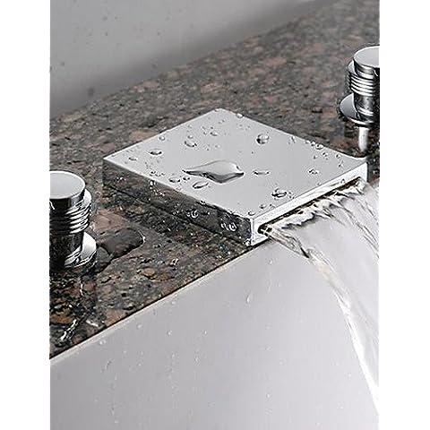 cascata lavandino rubinetto del bagno (diffusa) - finitura cromata