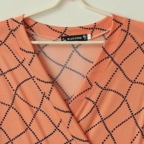 YL - Robe - Sans bretelle - Femme Orange