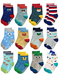 Unique Ideas Kid's Socks (Colours May Vary, 12-18 Months) - Pack of 4