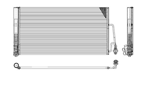 Behr Hella Service 8fc 351 309 381 Premium Line Kondensator Klimaanlage Auto