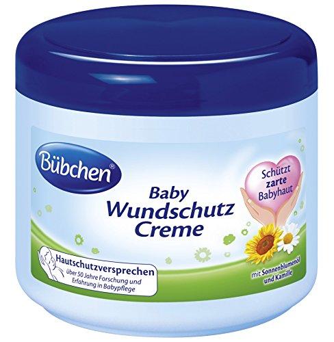 Bübchen Baby Wundschutz Creme, Sensitive Wundheilsalbe (Wund- und Heilsalbe für zarte Babyhaut, mit Sonnenblumenöl und Kamille) 2 x 500...