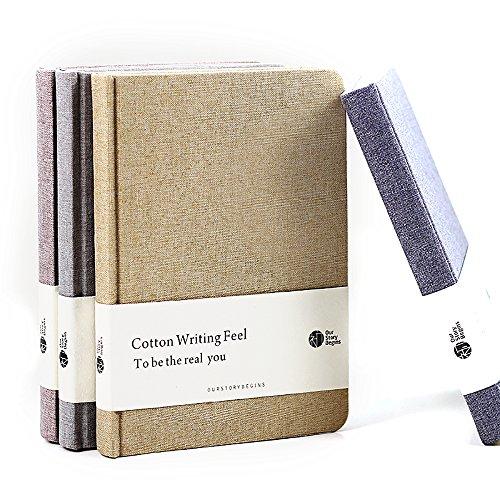Zhi Jin klassisches Notizbuch mit Hardcover aus dickem Stoff/Leinen, Notizblock, Tagebuch für Reisen, Büro, blanko Linen Gray