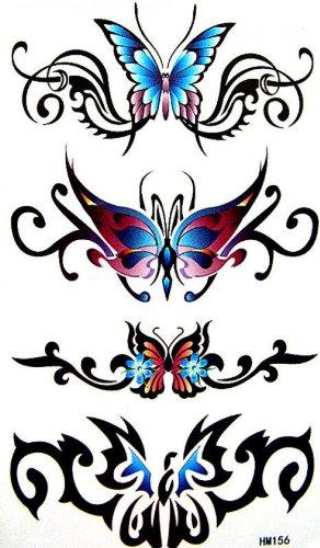 Autocollant de tatouage de papillon étanche sexy