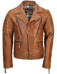 Amazon.it  giacca pelle uomo vintage - 5XL   Uomo  Abbigliamento e9f22796360