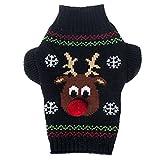 JJ Store Haustier Hund Pullover Kleid Winter Weihnachten Hunde Geschenk Hirsch Designs