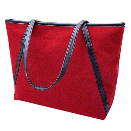 La mode des nouvelles femmes Scrub Sac cartable sac a bandouliere Veritable fourre-tout en cuir