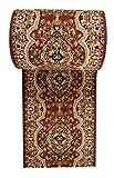 WE LOVE RUGS CARPETO Läufer Teppich Flur Braun Beige - Orientalisch Muster - Kurzflor Teppichlaufer Verona Kollektion 120 x 950 cm