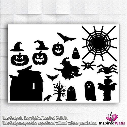 Spooky Spider Crawling Halloween Furchtsam Vinyl Decal Wandaufkleber Fenster by Inspired Walls®