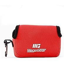 MegaGear ''Ultra Light'' Funda Bolsa Protector Neopreno Cámaras para Samsung WB350F (Rojo)
