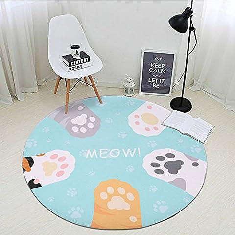 D & x Tapis circulaire simple et moderne salon table
