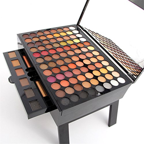Pure Vie Professional 180 Colours Eyeshadow Concealer Blush Lip Gloss Palette Makeup Contouring Kit - Ideal for Professional and Daily Use