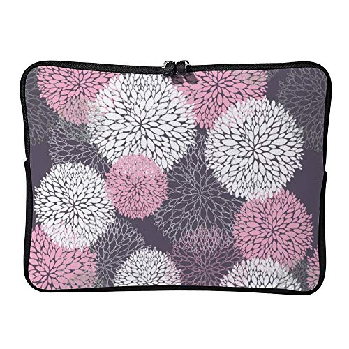 DKISEE Seamless Cute Floral Pattern Laptop Sleeve Case Bag Cover Compatible 17 inches Notebook MacBook Air MacBook Pro - Cover Hp-laptop-disney