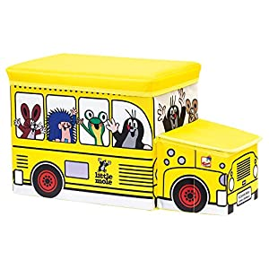 Bino Europe- Topito Caja para Juguetes, autobús (13793)