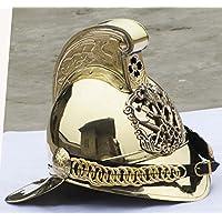 india .nautical .handicraft Victorian MERRYWEATHER Brass Fireman FIRE Fighter Brigade British Chief Helmet