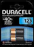 Duracell DL123A Doppelpack Ultra CR123A/EL123A 3V Lithium Batterie für Langanhaltende Leistung schwarz/kupfer