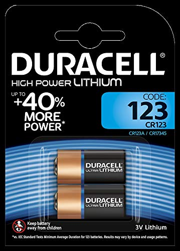 Duracell DL123A Doppelpack Ultra CR123A/EL123A 3V Lithium Batterie für Langanhaltende Leistung schwarz/kupfer Duracell 123 Lithium-batterie