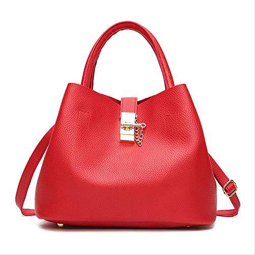 yingteng Mode Candy Frauen Taschen Mobile Messenger Damen Handtasche Pu-leder Frauen Umhängetasche Hohe Qualität Diagonal Cross Buns A Red -
