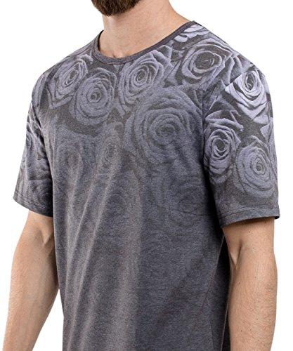 Phoenix Allstar Oversize T-Shirt Herren Longshirt mit 09 Print Longline Tee Langes Stylisches Shirt - S M L XL Shadow Rose Oversize