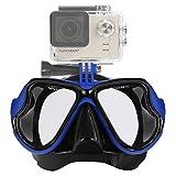IXROAD Máscara Gafas de Buceo Snorkel Natación con Soporte GoPro para Cámara Deportiva (Azul)