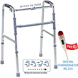 TRUSTCARE Aluminum Light Weight Balanced Frame Folding Walker for Adults and Patients