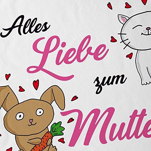 style3 Alles Liebe zum Muttertag Herren T-Shirt Kinderzeichnung Kinder Weiß