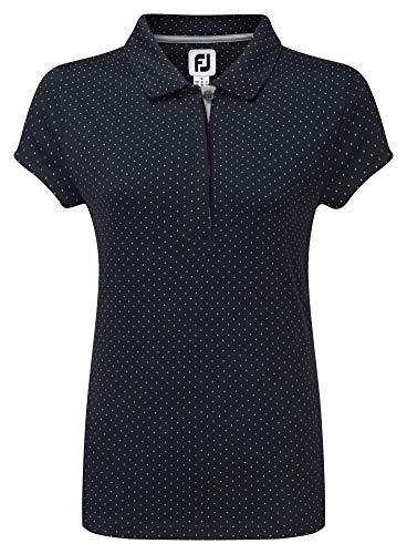 Footjoy Smooth Pique with Pin Dot Print Polo Damen Navy/grau XXL -