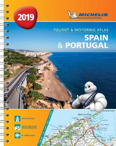 Spain & Portugal 2019 - Tourist and Motoring Atlas (A4-Spira (Michelin Road Atlases) por Michelin