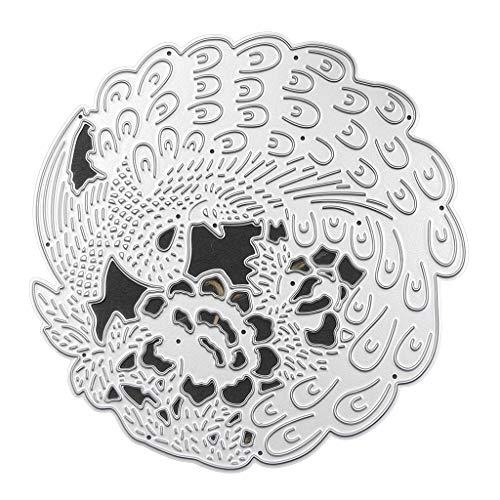 Xurgm - Fustella per scrapbooking, motivo: pavone, in metallo